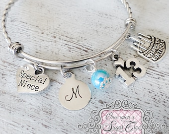 Niece 13th Birthday GIFT Bracelet Happy Jewelry Teenage Gift Ideas Girls Cake