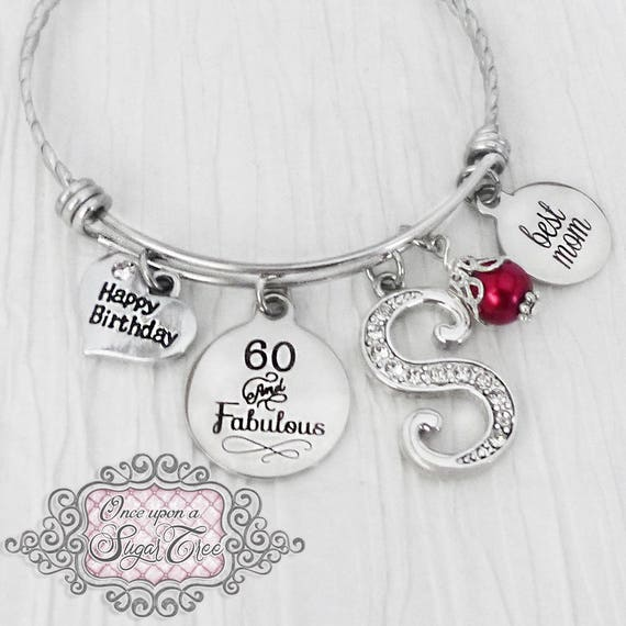 Birthday Gift For Mom Happy Jewelry 60 And