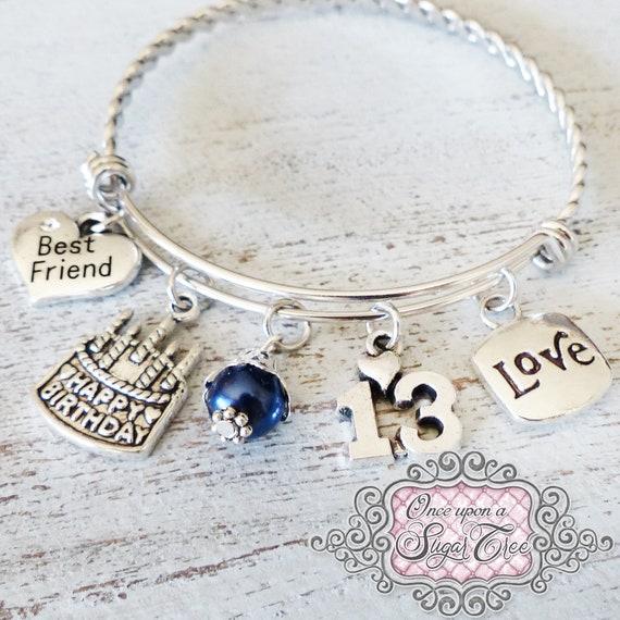 Best Friend 13th Birthday GIFT Bracelet Happy