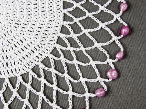 Uk Crochet Pattern For Easy Jug Cover Glass Cover Beaded Etsy
