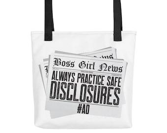 Always Practice Safe Disclosures #AD...Tote bag