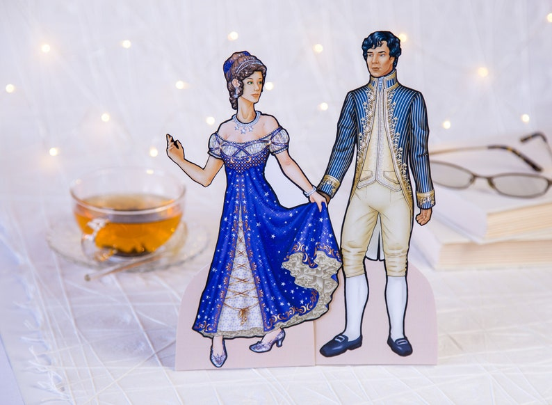 Cinderella Paper Dolls. Fairy Tale Dolls to cut out dress up. image 0