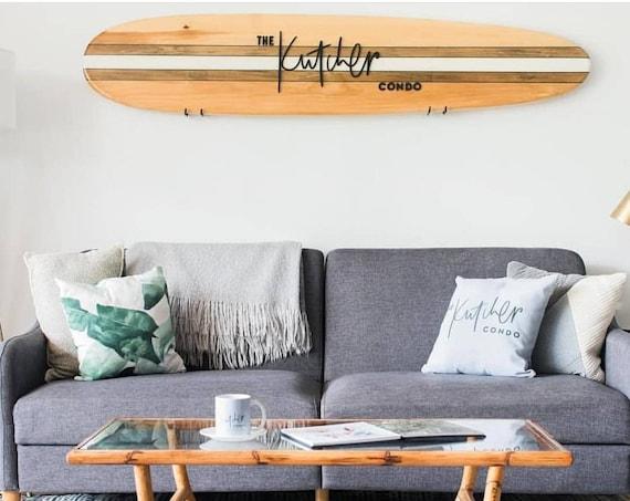 Custom Decorative Wooden Surfboard Wall Decor Art