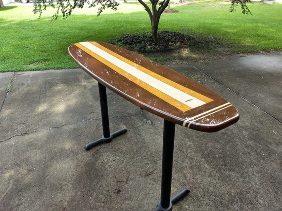 Surfboard counter or bar top restaurant table etsy image 0 watchthetrailerfo