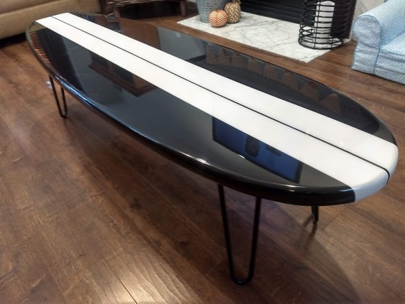 Surfboard Coffee Table Wooden Surfboard Table Surf Furniture 60 inch