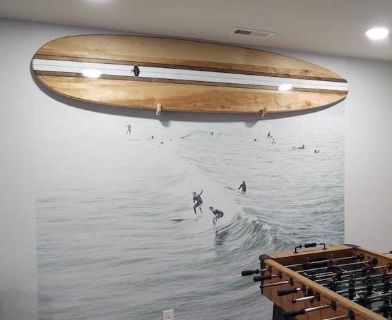 Natural Maple Decorative Wooden Surfboard Wall Decor Art