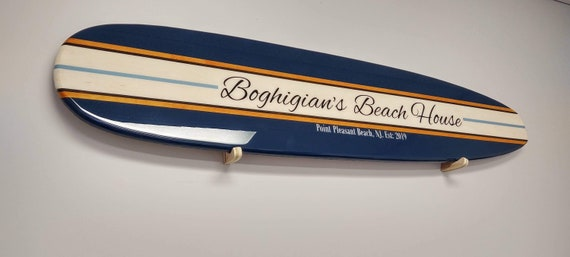 Navy Old School Surfboard Navy Hanging Wall Art Custom Surfboard Various Sizes Available