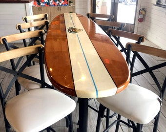 Surfboard Counter or Bar Top Restaurant Table