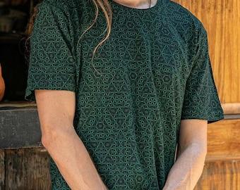 Flower Of Life Shirt For Men- Sacred Geometry Men's T-shirt- Psytrance- Burning Man- Festival Clothing- Psychedelic Boyfriend Birthday Gift