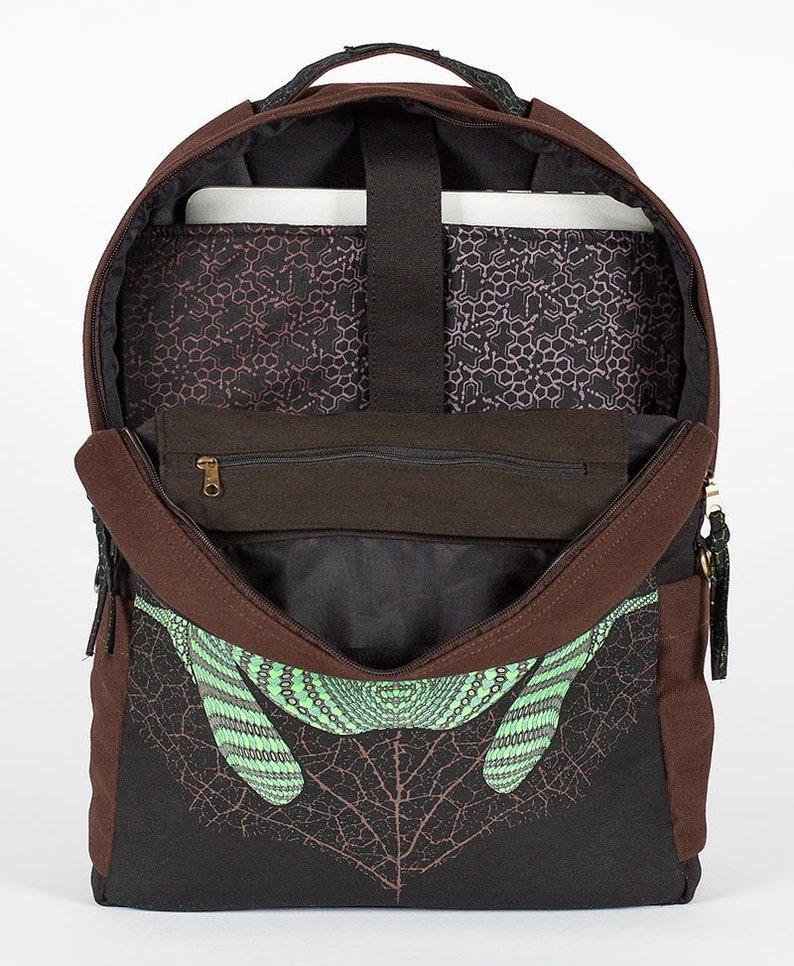 Psychedelic Backpack Round Backpack Kambo Frog Backpack For Laptop Mens Backpack Screen Printed Computer Backpack Womens Backpack