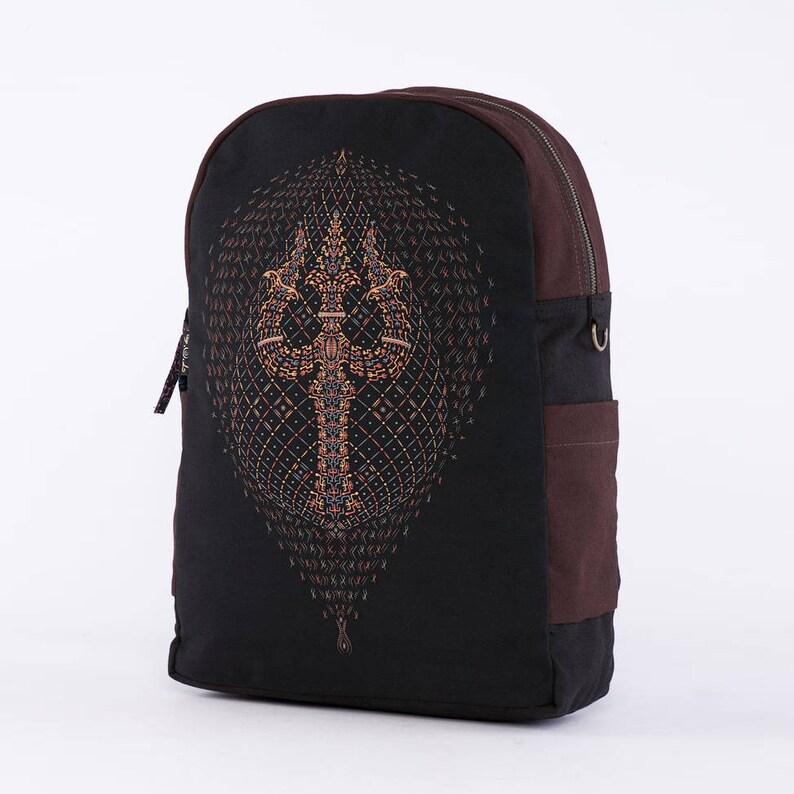 dd3181d2d67c Psychedelic Backpack, Laptop Bag, Festival Backpack, Laptop Backpack  13-15-17 inch, Small Backpack, Uv Glow, Psytrance, Canvas Backpack