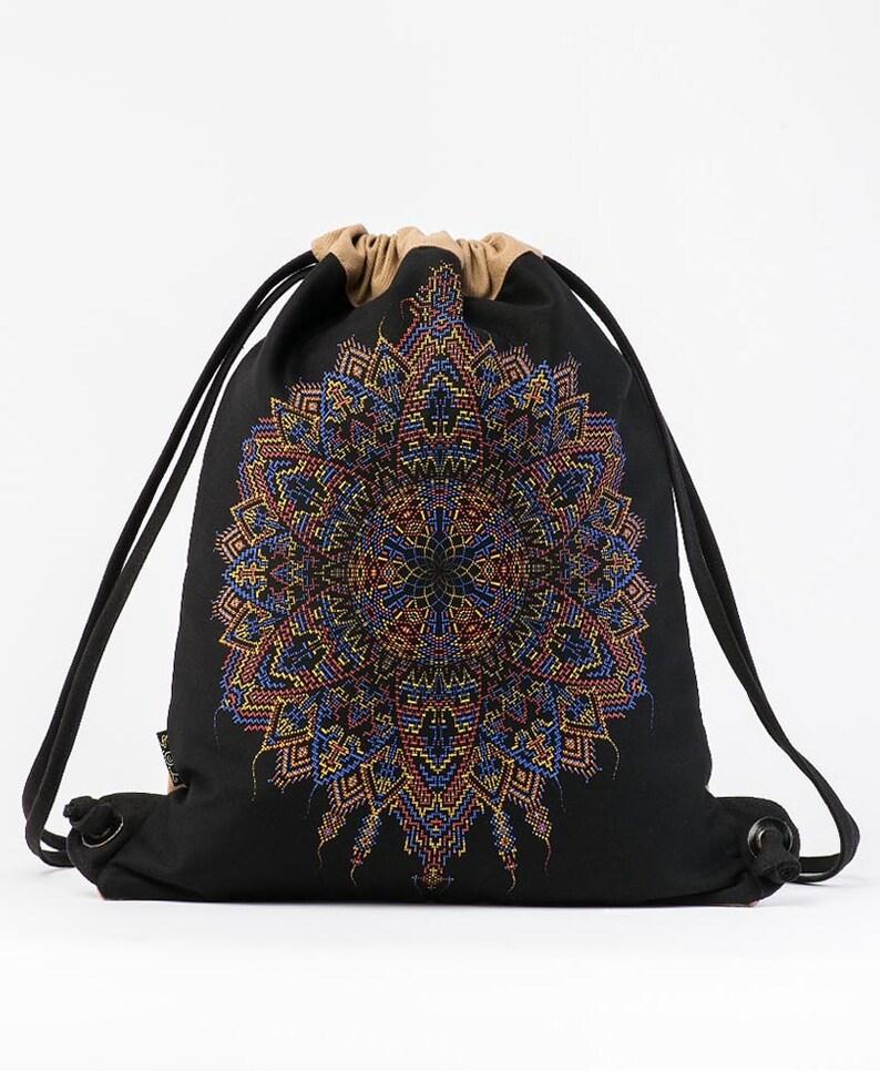 dc4aa70e397 Mandala Sack Bag Festival Bag Drawstring Backpack Screen   Etsy