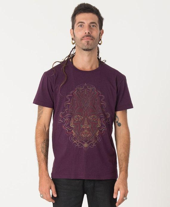 Mens T shirt, Psychedelic Shirt, Dmt, Visionary Art, Festival Shirt, Uv Reactive, Tee Shirt, Trippy Clothing, Seed Of Life