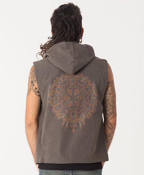 Herren Weste Kapuze Weste psychedelisch Mandala Heilige | Etsy