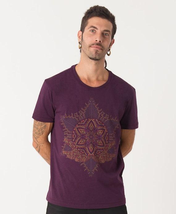 Heilige Geometrie Mens Tee spirituelle Shirt Yantra | Etsy