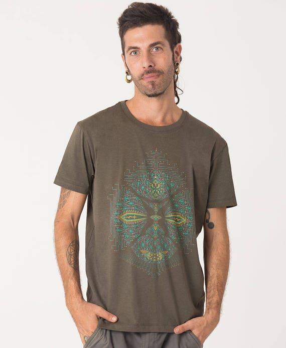 Festival Kleidung Herren t-Shirt Siebdruck buntes Hemd | Etsy