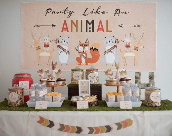 Woodland Party Animal Printables Etsy