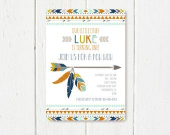 Tribal Birthday Invitation