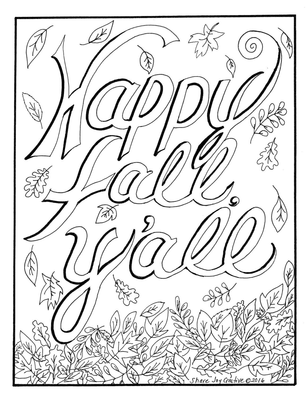 happy fall y u0026 39 all coloring page
