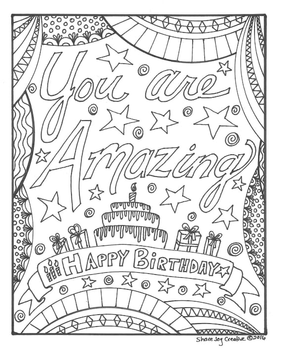 happy birthday america coloring pages - photo#14