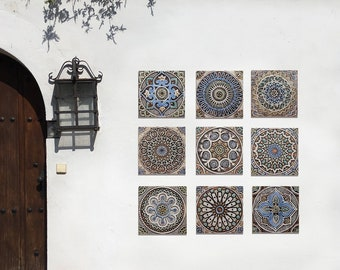 Outdoor Wall Art Ceramic Etsy