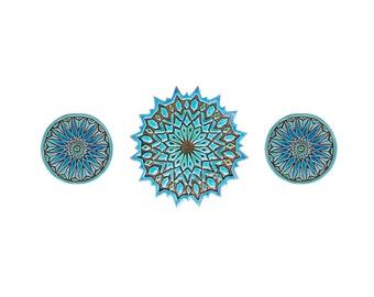 Piastrelle di ceramica con mandala piastrelle decorative etsy