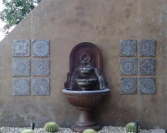White Outdoor Wall Art Ceramic Tiles For Terrace Walls Garden Etsy