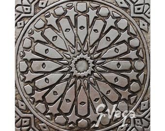 Decorazione della parete bagno con design marocchino etsy