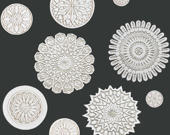Arte della parete marocchina effettuata in ceramica arte etsy