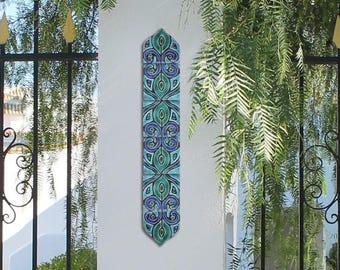 Giardino arte set di 6 piastrelle piastrelle di ceramica per etsy