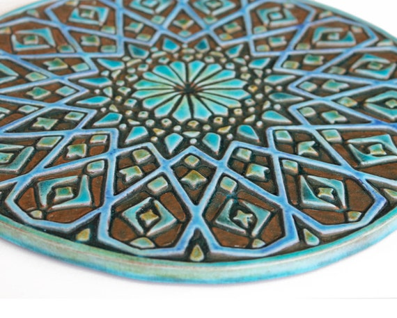 Decorazione della parete marocchina fatta da ceramica arte etsy