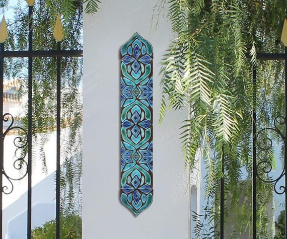 Arte della parete esterna set di 6 piastrelle piastrelle etsy