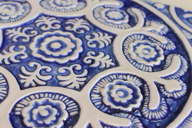 Decorazione del giardino con motivi etnici blu e bianco set etsy