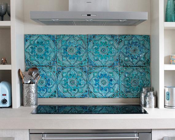 Set di piastrelle in ceramica per cucine e bagni arte della etsy