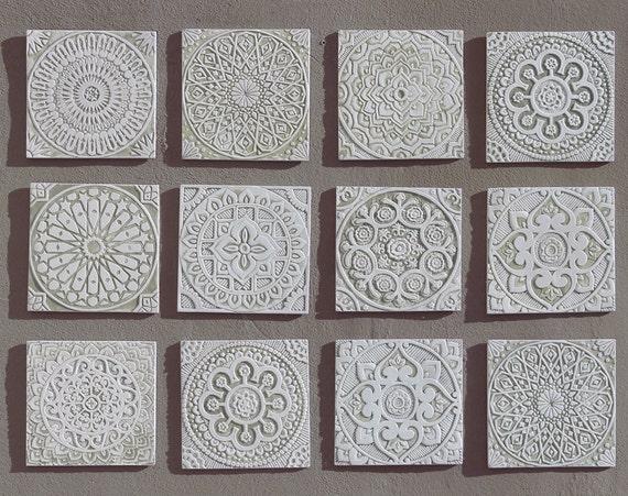 Arte per bagno con disegni etnici piastrelle in ceramica per etsy