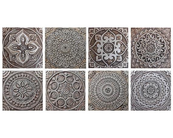 Decoratie Badkamer Muur : 8 keramische tegels voor de keuken en badkamer decoratie etsy