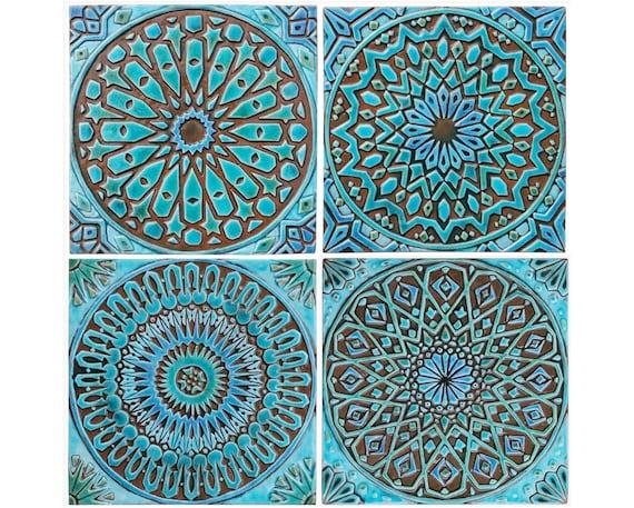 Genoeg Marokkaanse decor Set van 4 Marokkaanse tegels Marokkaanse | Etsy @UR15