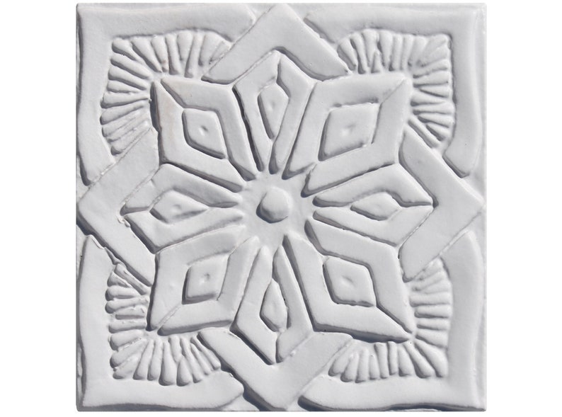 Hand Paint Tiled Moroccan Tile Ceramic Wall Art Ceramic Tile Decorative Wall Art Tile In Morocco Design White Moroccan 1 15cm