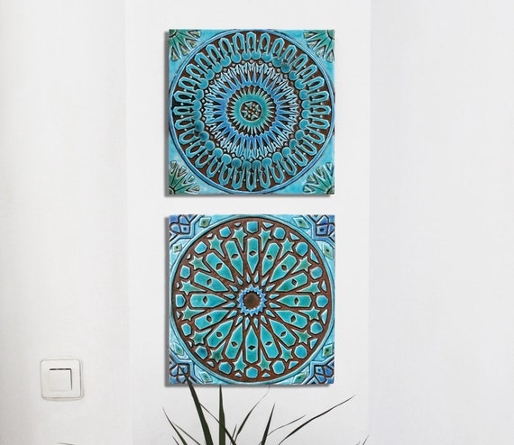bathroom wall decor Art for Bathroom Ceramic tiles Bathroom | Etsy