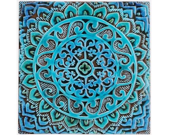 Mandala Wall Hanging Made From Ceramic Outdoor Wall Art Etsy