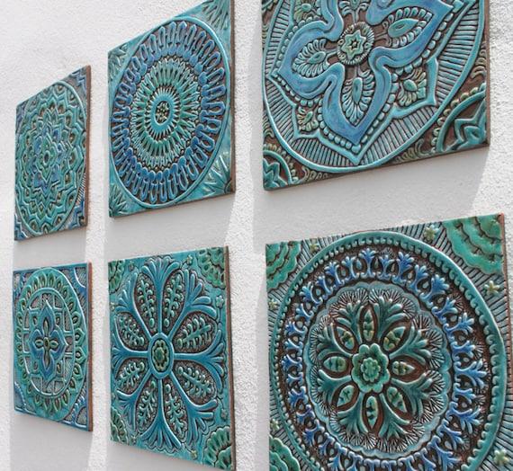 Set of 6 Ceramic tiles Bathroom tiles Decorative tiles | Etsy