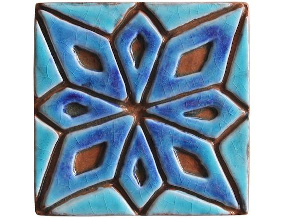 Decoratieve tegel met marokkaans design marokkaanse tegels etsy