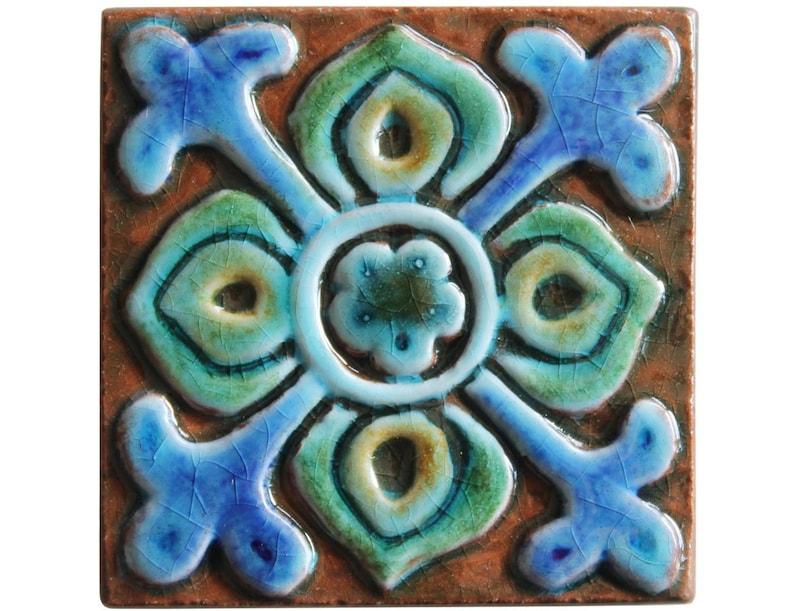Mattonelle decorative con il disegno floreale piastrelle di etsy