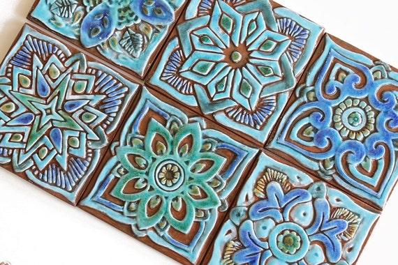 Mattonelle di marocco mattonelle di mano vernice piastrelle etsy