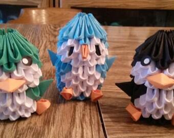 3D Origami Penguins