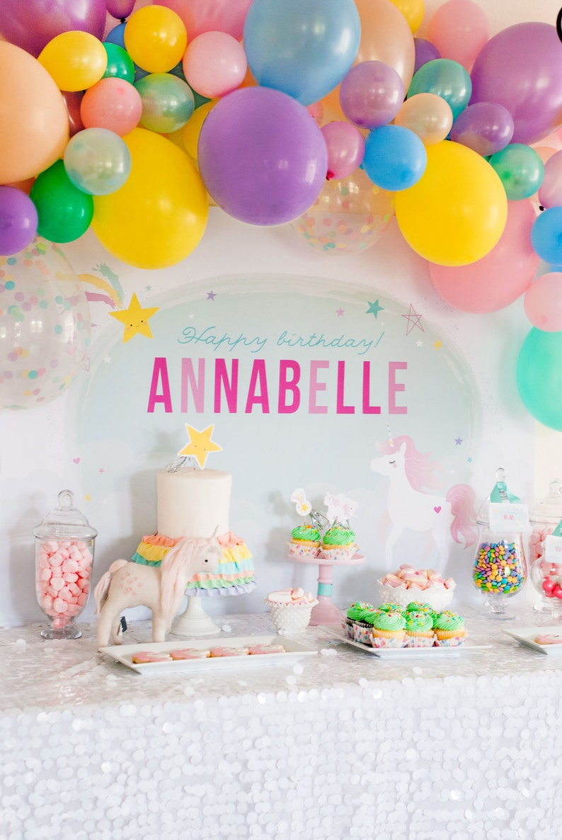 Unicorn Party Printables decorations INSTANT DOWNLOAD by Itsy image 0
