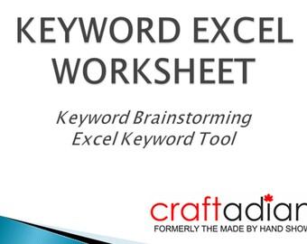 Keyword worksheets | Etsy
