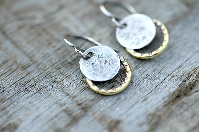 Mothers Day jewelry gift small silver earrings sterling image 0