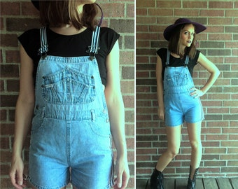 4803e7a67d vintage 90s RACING STRIPES light denim grunge OVERALLS Extra Small hipster vintage  overalls preppy jeans suspender shorts jumpsuit dungarees