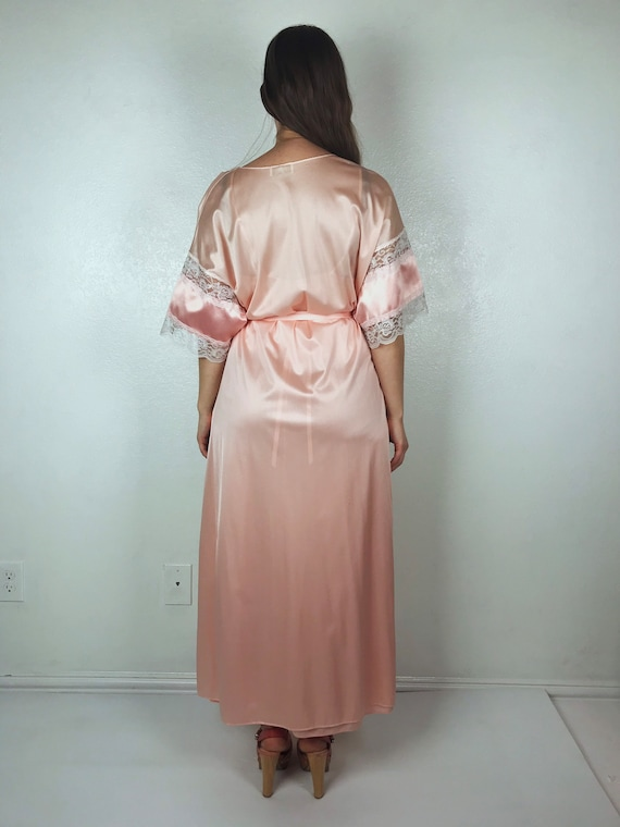 Vintage 70s Peachy Pink Maxi Dress by Infinity